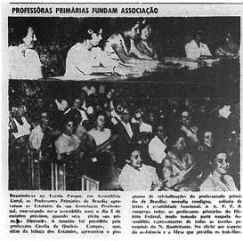 A Associação de Professores Primários foi criada em 27 de agosto de 1961, tendo como presidente o Pr